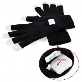 Yiwu Luminous Colorful LED Light Glove / Sarung Tangan LED - Black - 4