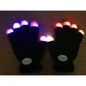 Yiwu Luminous Colorful LED Light Glove / Sarung Tangan LED - Black - 8