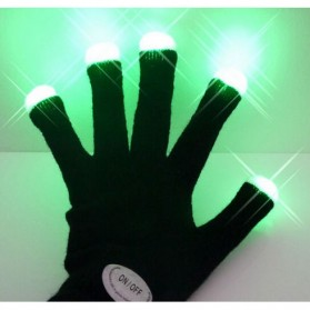 Yiwu Luminous Colorful LED Light Glove / Sarung Tangan LED - Black - 9