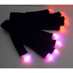 Yiwu Luminous Colorful LED Light Glove / Sarung Tangan LED - Black - 10