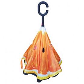 Payung Terbalik Gagang C - Orange - 2