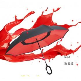 Payung Terbalik Gagang C - Black - 7