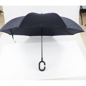 Payung Terbalik Gagang C - Black - 10