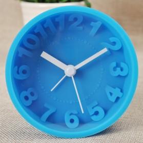 Alarm 3D Number Silicone Clock / Jam Alarm - Blue