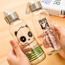 Creative Portable Sports Glass Water Bottles 300ml / Botol Minum - Transparent