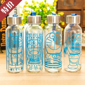 Creative Portable Sports Glass Water Bottles 300ml / Botol Minum - Transparent - 5