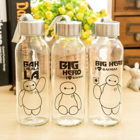 Creative Portable Sports Glass Water Bottles 300ml / Botol Minum - Transparent - 9