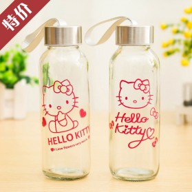 Creative Portable Sports Glass Water Bottles 300ml / Botol Minum - Transparent - 11