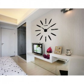 Jam Dinding Besar DIY Giant Wall Clock Quartz Creative Design 80-130cm - DIY-202 - Black - 2
