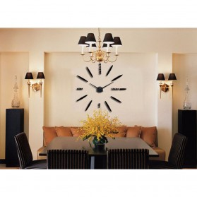 Jam Dinding Besar DIY Giant Wall Clock Quartz Creative Design 80-130cm - DIY-202 - Black - 5