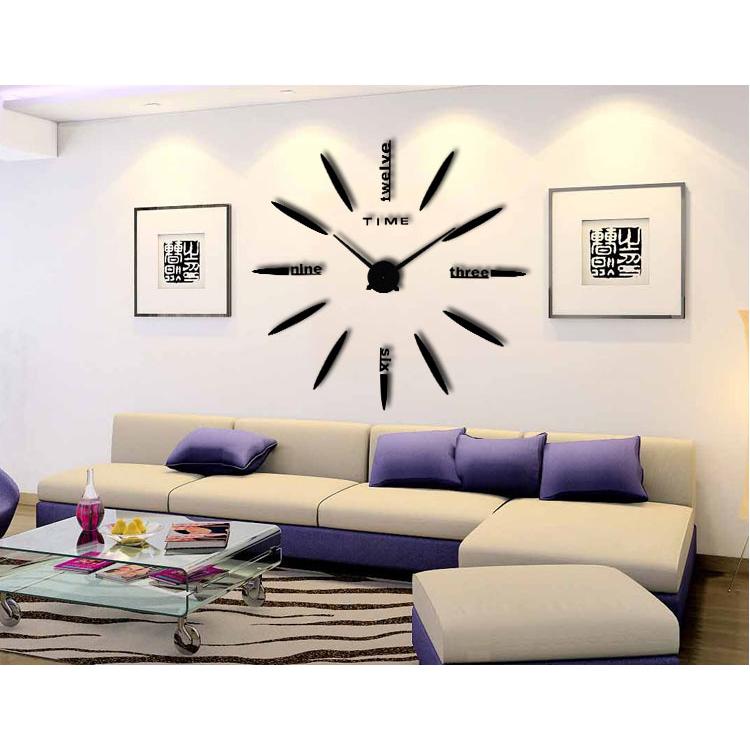 ... Jam Dinding Besar DIY 80-130cm Diameter - ELET00661 - Black - 1 ... bf4cbff799