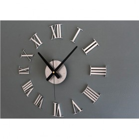 Jam Dinding DIY Giant Wall Clock Quartz Creative Design 30-60cm - DIY-05 - Silver - 2
