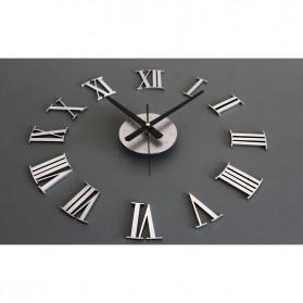 Jam Dinding DIY Giant Wall Clock Quartz Creative Design 30-60cm - DIY-05 - Silver - 3