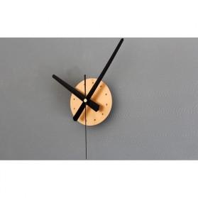 Jam Dinding DIY Giant Wall Clock Quartz Creative Design 30-60cm - DIY-05 - Silver - 4
