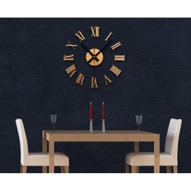 Jam Dinding DIY Giant Wall Clock Quartz Creative Design 30-60cm - DIY-05 - Silver - 7