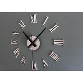 Jam Dinding DIY Giant Wall Clock Quartz Creative Design 30-60cm - DIY-05 - Silver - 9