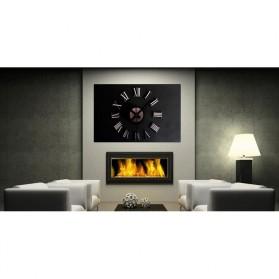 Jam Dinding DIY Giant Wall Clock Quartz Creative Design 30-60cm - DIY-05 - Silver - 10