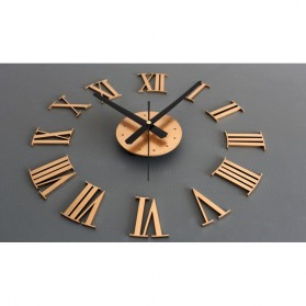Jam Dinding DIY Giant Wall Clock Quartz Creative Design 30-60cm - DIY-05 - Silver - 13