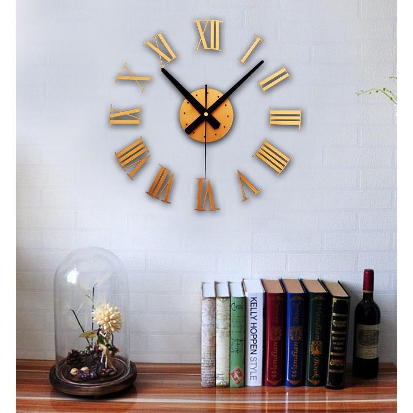 ... DIY Giant Wall Clock 30-60cm Diameter - ELET00662   Jam Dinding -  Silver ... e56cc77fc3