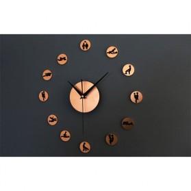 DIY Giant Wall Clock 30-60cm Diameter - ELET00664 / Jam Dinding - Golden