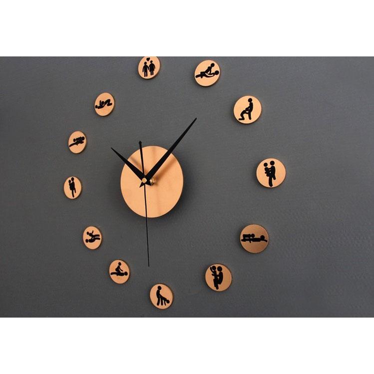 DIY Giant Wall Clock 30-60cm Diameter - ELET00664   Jam Dinding - Golden ... 26474db462