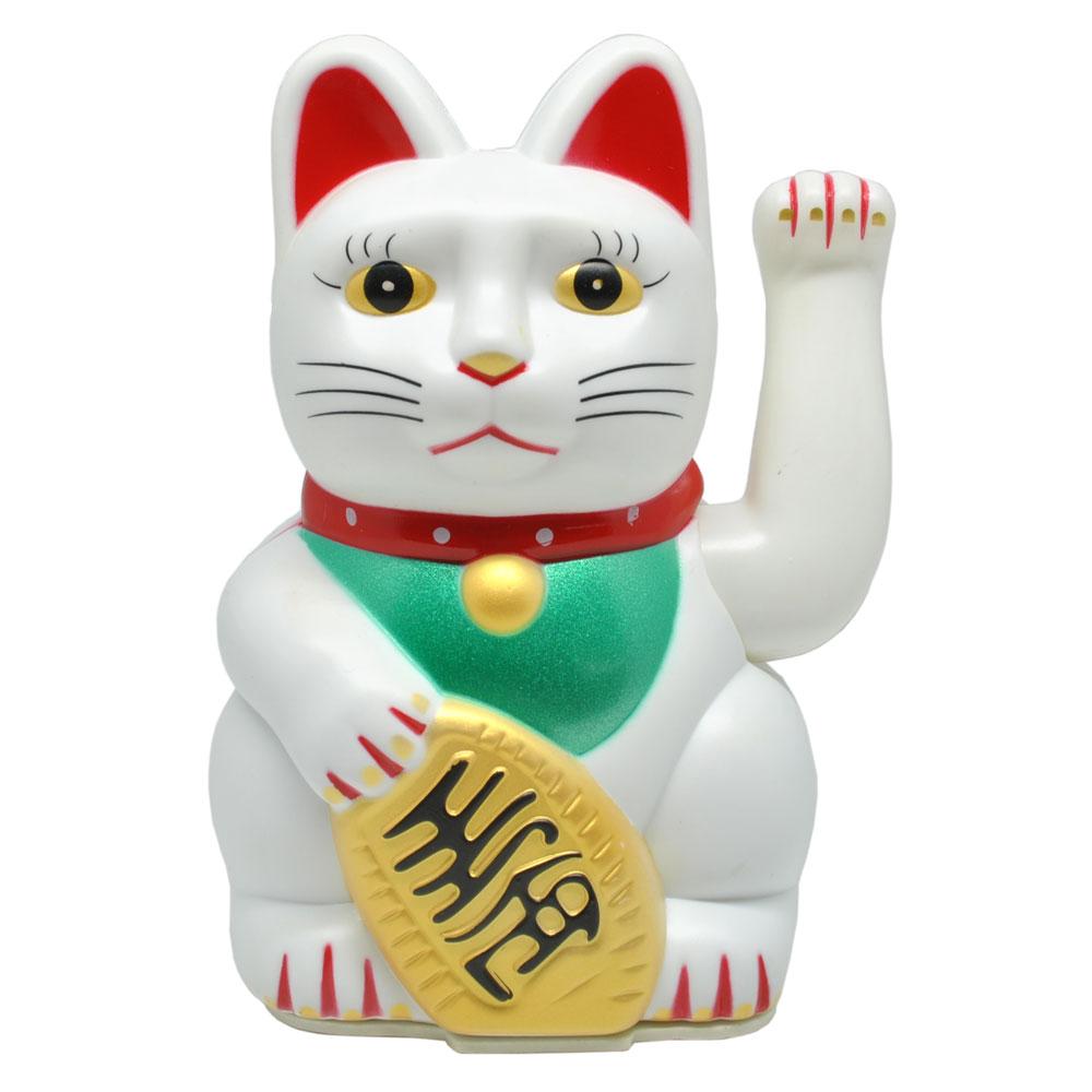 Maneki Neko Fortune Cat - White