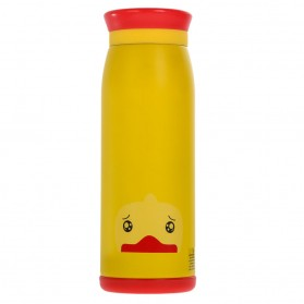 Colourful Cute Cartoon Thermos Insulated Mik Water Bottle 500ml - Yellow - 2