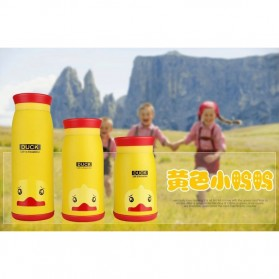 Colourful Cute Cartoon Thermos Insulated Mik Water Bottle 500ml - Yellow - 3