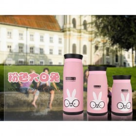 Colourful Cute Cartoon Thermos Insulated Mik Water Bottle 500ml - Pink - 3