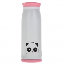 Colourful Cute Cartoon Thermos Insulated Mik Water Bottle 500ml - White - 2