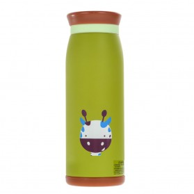 Colourful Cute Cartoon Thermos Insulated Mik Water Bottle 500ml - Green - 2