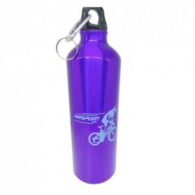 TaffSport Botol Minum Olahraga Aluminium 750ml Dengan Karabiner - H2GO - Blue - 2