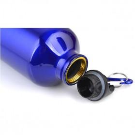 TaffSport Botol Minum Olahraga Aluminium 750ml Dengan Karabiner - H2GO - Blue - 5