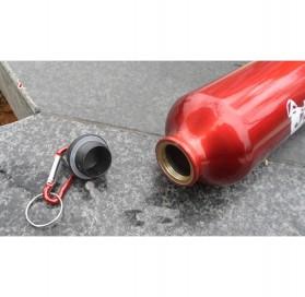 TaffSport Botol Minum Olahraga Aluminium 750ml Dengan Karabiner - H2GO - Blue - 10