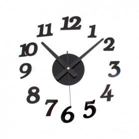 Jam Dinding DIY Giant Wall Clock Quartz Creative Design 30-50cm - DIY-03 - Black