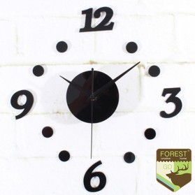 Taffware Jam Dinding DIY Giant Wall Clock Quartz Creative Design 30-50cm - DIY-06 - Black