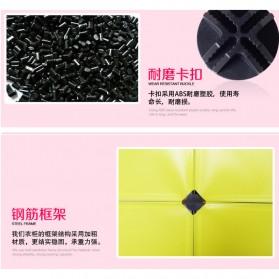 Lemari Baju Plastik DIY 3 Pintu - Multi-Color - 3