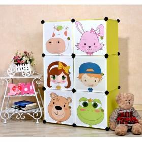 Lemari Baju Plastik DIY 3 Pintu - Multi-Color - 6