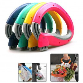 Gantungan Plastik Belanja Dengan Sistem Pengunci - Multi-Color