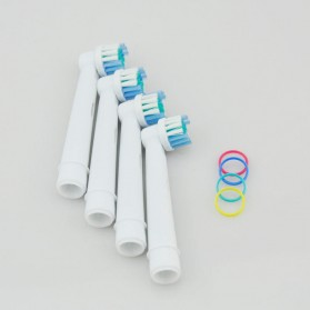 LEZHISNUG Electric Toothbrush Replacement Heads 4 Pcs for Oral-B - EB-17A - White - 2