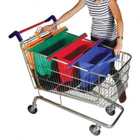 Supermarket Trolley Organizer Shopping Bag 4 Pcs / Keranjang Belanja - Multi-Color - 5
