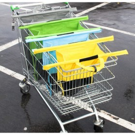 Supermarket Trolley Organizer Shopping Bag 4 Pcs / Keranjang Belanja - Multi-Color - 9