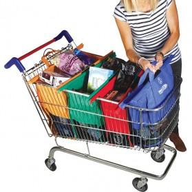 Supermarket Trolley Organizer Shopping Bag 4 Pcs / Keranjang Belanja - Multi-Color - 10