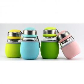 Botol Minum Penguin Case Silikon - 400ml - Blue - 2