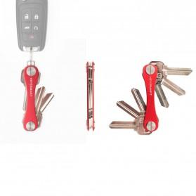 Keysmart Swiss Army Style Keychain Organizer and Holders - L Size - Black - 7