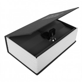 SAFEBET Security Dictionary Cash Jewelry Key Lock Book Storage M Size - ER567 - Black - 2