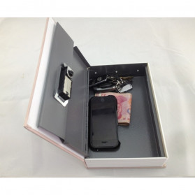 SAFEBET Security Dictionary Cash Jewelry Key Lock Book Storage M Size - ER567 - Black - 6
