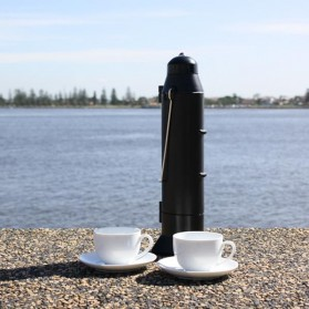 Solar Thermos Camping Hiking Kettle 500ml - Black - 7