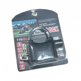 EYCI Gembok Alarm Motor Suara Anti Maling / Lock Siren - APR14 - Black - 7