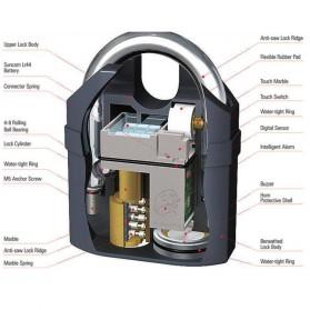 EYCI Gembok Alarm Motor Suara Anti Maling / Lock Siren - APR14 - Black - 4